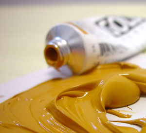 golden acrylic paint