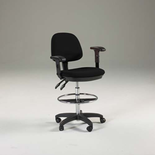 Feng Shui Drafting Height Chair Black