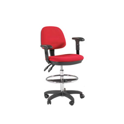 Feng Shui Drafting Seating in Red