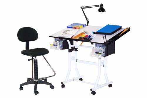 The Creation Station Table Combo Package With Drafting High Air