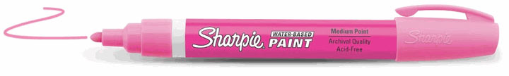 Sharpie Water-Based Paint Marker Fluorescent Pink Fine