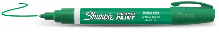 Sharpie Water-Based Paint Marker Green Extra Fine