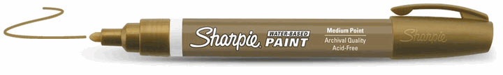 Sharpie Water-Based Paint Marker Gold Fine