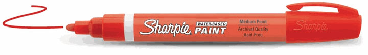 Sharpie Water-Based Paint Marker Red Fine