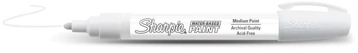 Sharpie Water-Based Paint Marker White Fine