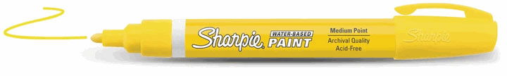 Sharpie Water-Based Paint Marker Yellow Medium
