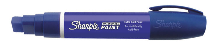 Sharpie Water-Based Paint Marker Blue Broad