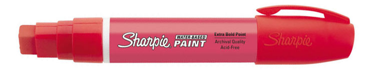 Sharpie Water-Based Paint Marker Red Broad