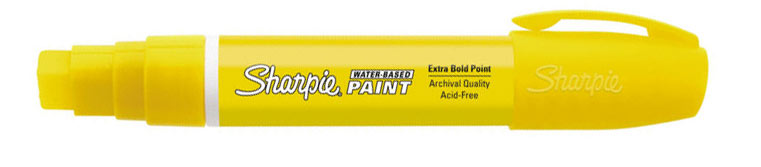 Sharpie Water-Based Paint Marker Yellow Broad