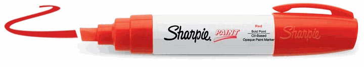 Sharpie Oil-Based Paint Marker Red Bold