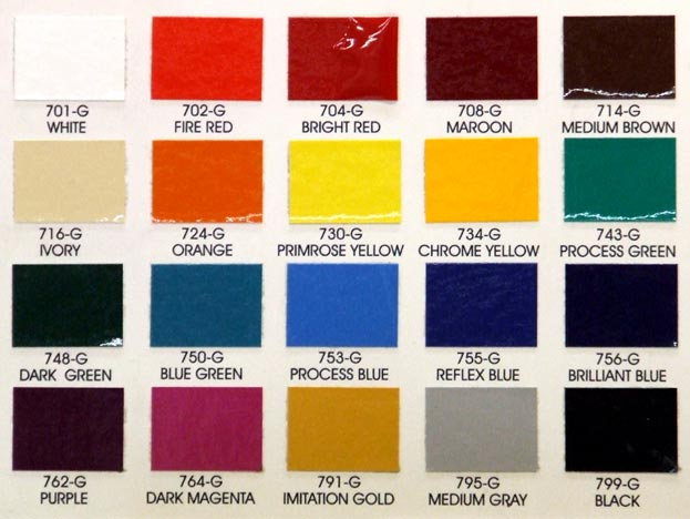 one shot enaml color chart