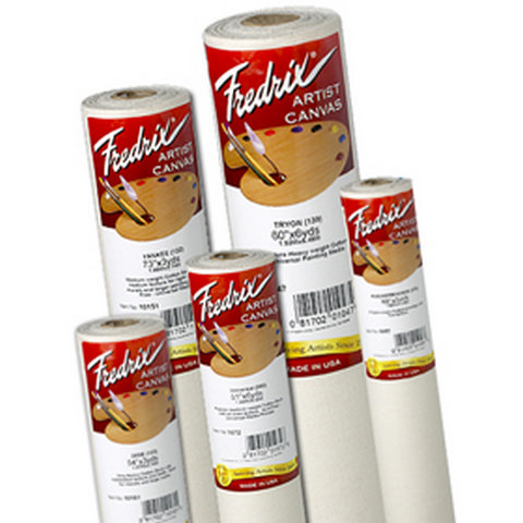 Fredrix Canvas Roll Cotton Duck Primed 53 Inch X 30 Yard