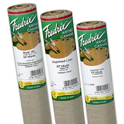 Fredrix Canvas Roll Linen Style 136 7Oz Unprimed 52 Inch X 6 Yards