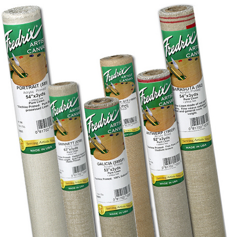 Fredrix Canvas Roll 589 Portrait  Acrylic Primed Linen 54In X 6Yrd