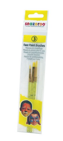 Snazaroo Face Painting  Brush 3 Piece Set