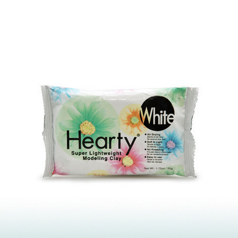 Hearty Air Dry Clay White 1.75oz