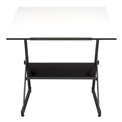 Solano Adjustable Drafting Table Charcoal / White