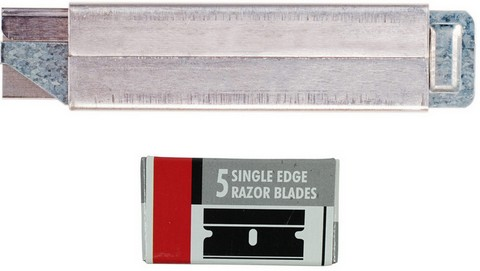 Excel Flat Metal All Purpose Cutter Knife Carrded