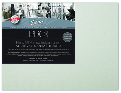 Fredrix Pro Series Oil Primed Linen Canvas Panels 18X24