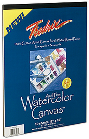 Fredrix Fredrix Archival Watercolor Canvas Pad 10 Sheets 9X12