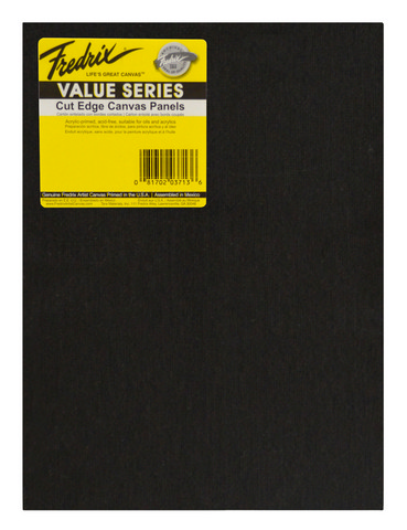 Fredrix Value Series Cut Edge Black Canvas Panel 4X6