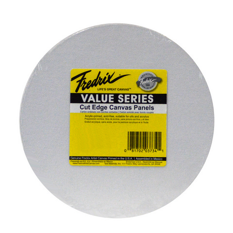 Fredrix Value Series Cut Edge Canvas Panel Round 12 In
