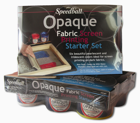 Opaque Fabric Screen Printing 6Pc Starter Set