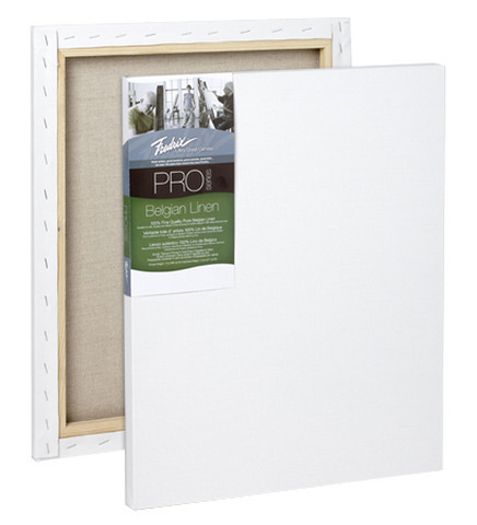 Fredrix Pro Belgian Linen Stretched Canvas 11X14 7/8 Bar 5 pack
