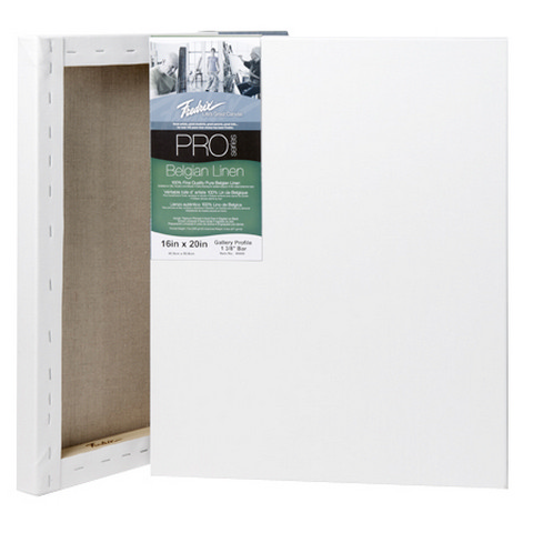Fredrix Pro Belgian Linen Stretched Canvas 9X12 1-3/8 5 pack