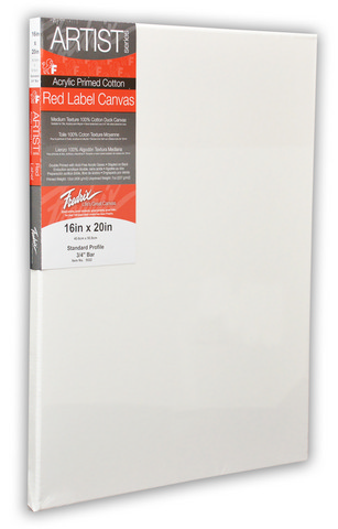Fredrix Artist Series Red Label Stretch Canvas 9X12 11/16 Bars