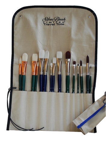 Brush Travel Tote For Long Handle Brushes