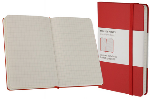 Moleskine Gridded Red Books