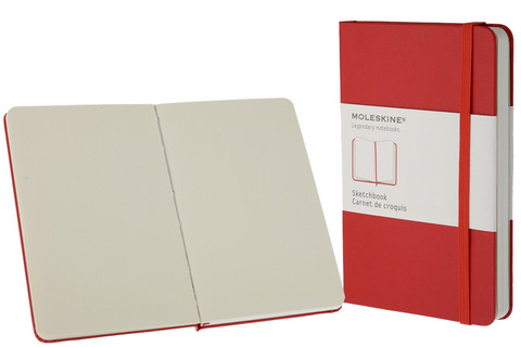 Moleskine Plain Red Book Pocket Small