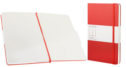 Moleskine Plain Red Sketchbook Large