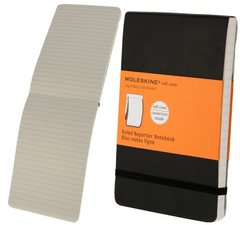 Moleskine Soft Cover Ruled Reporter Notebook Large 5 X 8.25
