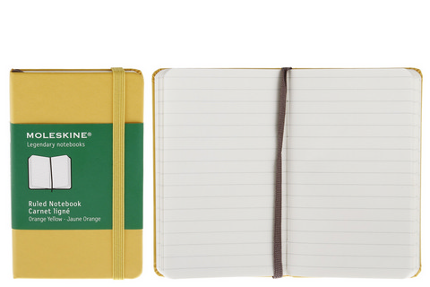 Moleskine Ruled Hard Cover Notebook 2.5 X 4 Golden Yellow