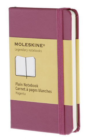 Moleskine Plain Hard Cover Notebook 2.5 X 4 Magenta