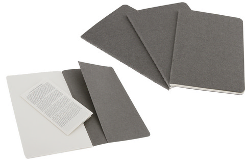 Moleskine Plain Cahier Pebble Grey Large 5 X 8.25 3 Pack