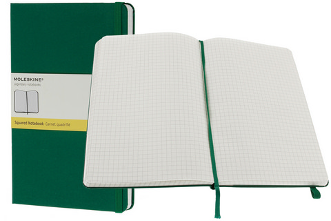 Moleskine Gridded Hard Cover Books