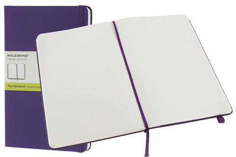 Moleskine Plain Hard Cover Notebook 5 X 8.25 Brilliant Violet