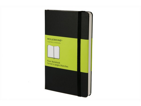 Moleskine Plain Hard Cover Notebook 2.5 X 4 Black