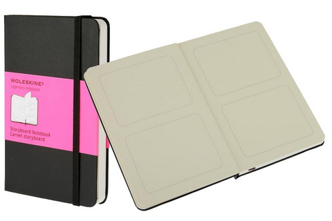 Moleskine Hard Cover Storyboard Notebook 3.5 X 5.5