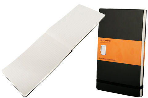 Moleskine Hard Cover Ruled Reporter Notebook Large 5 X 8.25