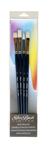 Bristlon Long Handle Acrylic Brush Set 4Pcs