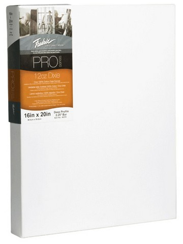 Fredrix Pro Series 12oz. Dixie Stretched Canvas 18X18 2-1/4 Bars