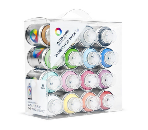 Water based 100ml Spray Workshop 16 Color Pack