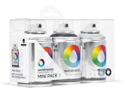 Water based 100ml Spray Wh-Bk-Gy 3 Color Pack