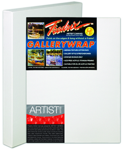 Fredrix Artist Series Gallerywrap Canvas 18X24 1-3/8 Bars