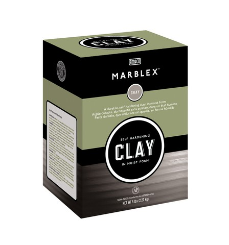 Marblex Self Hardening Clay Gray 25Lb