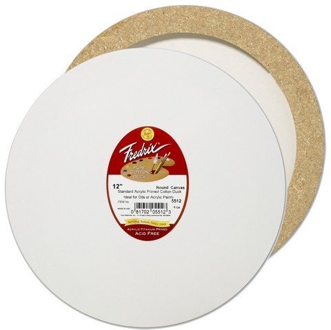 Fredrix Artist Series Round Stretch Canvas 16 Inch